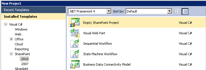 Empty SharePoint Project